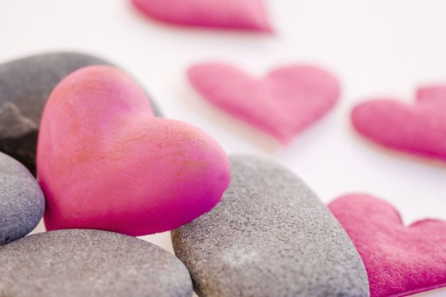 3128368 - pink hearts with gray pebble